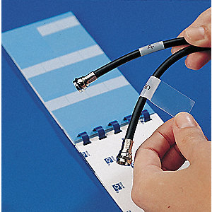 White/Transparent Wire Marker Book, Vinyl, No. of Labels: 30