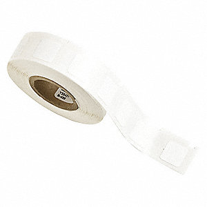 "White, 500 Labels per Roll H x 1/2"" W, 1 EA"