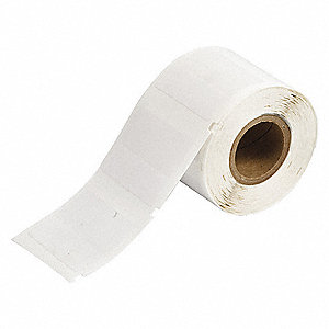 "White on Translucent, 250 Labels per Roll H x 1/2"" W, 1 EA"