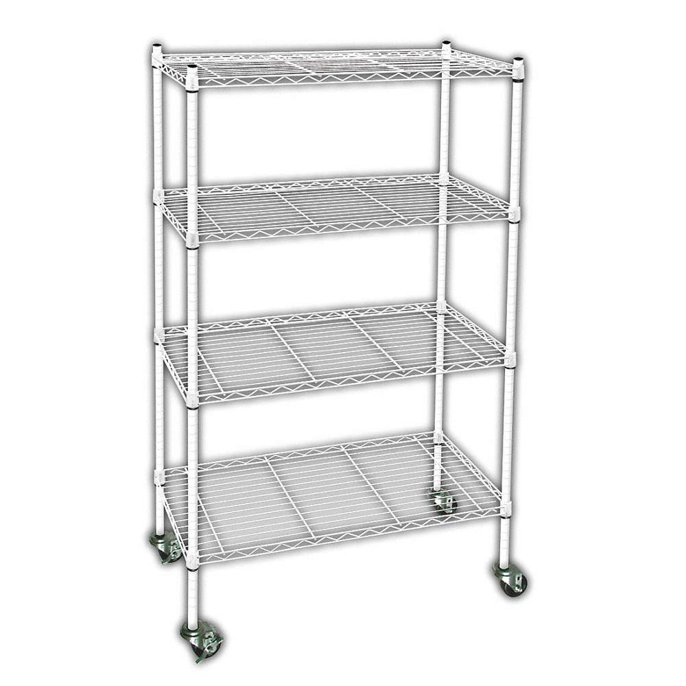 GRAINGER APPROVED Mobile Wire Shelving Unit, 60\
