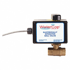 "Lead Free Brass Electronic Actuated Ball Valve, 3/4"" Pipe Size, 120VAC Voltage"