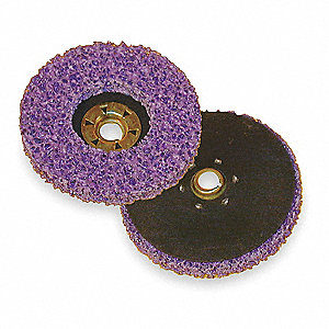 "4-1/2"" Non-Woven Fiber Disc, 5/8-11"" Mounting Hole Size, Extra Coarse Grit Silicon Carbide, 10 PK"