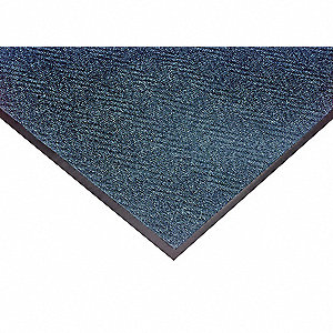 "Indoor Entrance Mat, 4 ft. L, 3 ft. W, 5/16"" Thick, Rectangle, Blue"