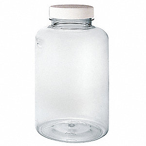 120mL/4 oz. Precleaned Bottle, Wide Mouth, PETE, PK 6