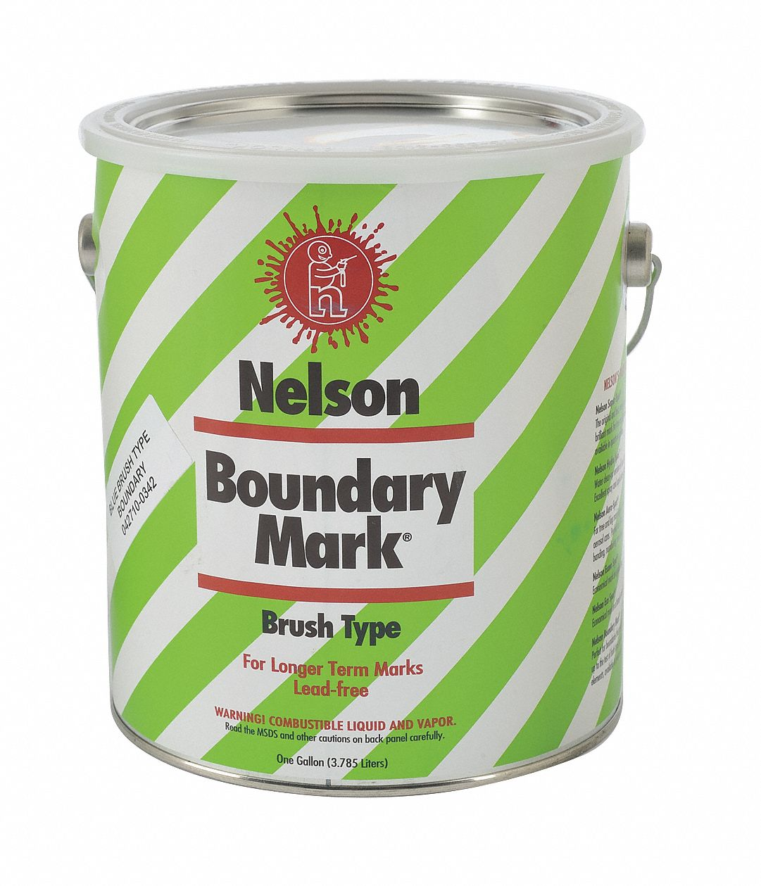 Water-Base Boundary Marking Paint, Blue, 3.78 L