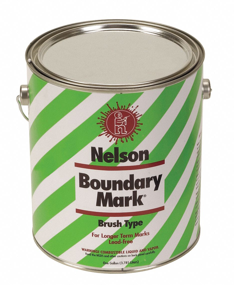 Water-Base Boundary Marking Paint, Yellow, 3.78 L