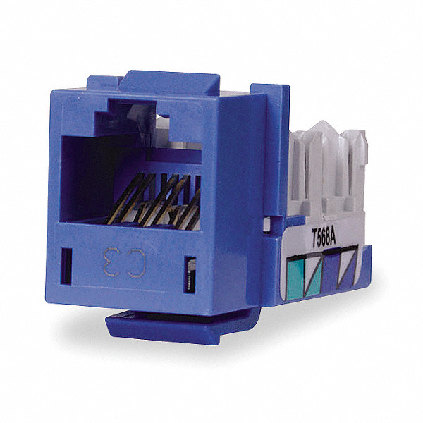 hubbell premise wiring modular jack blue plastic series. Black Bedroom Furniture Sets. Home Design Ideas