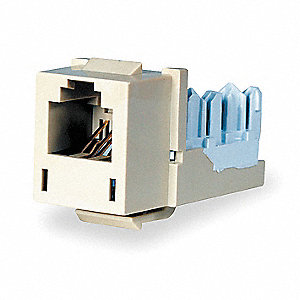 Modular Jack, Electric Ivory, Plastic, Series: Standard, Cable Type: Category 6