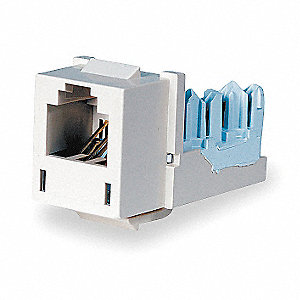 Modular Jack, Telco Ivory, Plastic, Series: Standard, Cable Type: Category 6