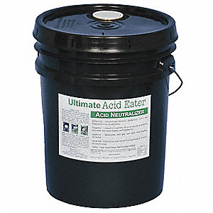 Acid Neutralizer, Neutralizes Acids, Liquid, 5 gal.