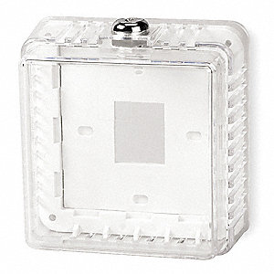Plastic Universal Thermostat Guard, Off-White