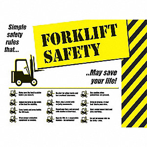 "Safety Poster, English, 18"" x 24"", 1 EA"