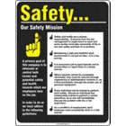 Safety. . . Our Safety Mission Posters