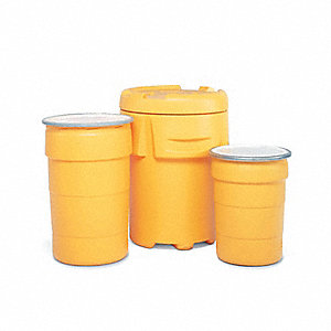 Salvage Drum,55 gal.,Yellow