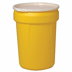 30 gal. Yellow Polyethylene Open Head Overpack Drum