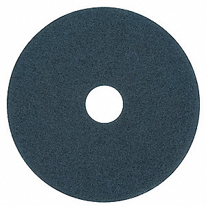 Scrubbing Pad,17 In,Blue,PK5