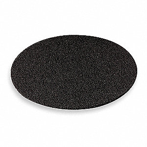 "18"" Nylon Round Stripping Pad, 175 to 600 rpm, Black, 5 PK"