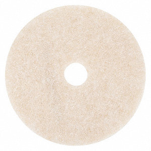 "20"" Peach Burnishing Pad, Non-Woven Polyester Fiber, Package Quantity 5"