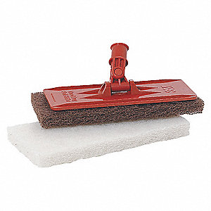 "Orange Swivel Pad Holder, Length 9"", Width 3-3/4"", 1 EA"