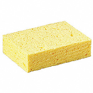 "6"" x 4-1/4"" Cellulose Sponge, Yellow, 1EA"