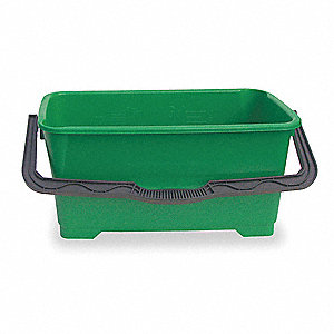 6 gal. Green Polypropylene Bucket, 1  EA