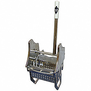 Down Press Mop Wringer, Silver, Stainless Steel, 8 to 16 oz. Mop Capacity