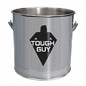 5 gal. Silver Stainless Steel Bucket, 1  EA