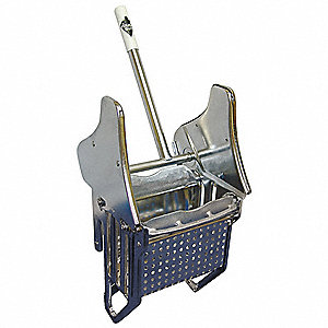 Down Press Mop Wringer, Silver, Stainless Steel, 16 to 24 oz. Mop Capacity