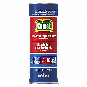 COMET Bathroom Cleaner, 21 Oz. Non Aerosol Can, Unscented Powder, Ready To  Use, 24 PK   3U557|PGC32987   Grainger