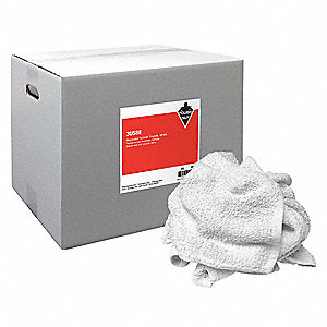 Turkish Shop Towels,White,25 lb. Box