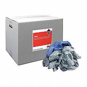 Wiping Cloths,Cotton,25 lb. Box