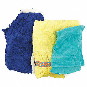 Assorted Terry Cloth, Size: Varies, 25 lb. Box