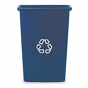 Recycling Container,Blue,23 gal.