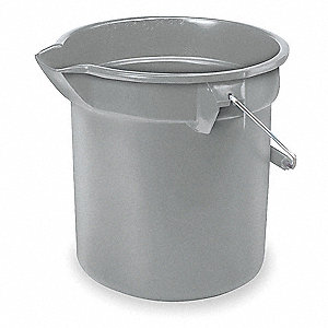 2-1/2 gal. Gray HDPE Bucket, 1  EA