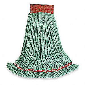 Side Gate Synthetic String Wet Mop Head, Green