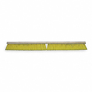 "Synthetic Push Broom, Block Size 36"", Hardwood Block Material"