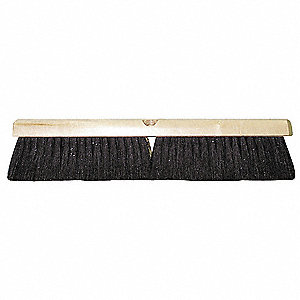 "Tampico, Wire Push Broom, Block Size 18"", Hardwood Block Material"