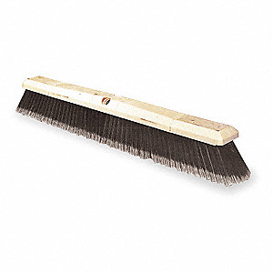 "Tampico, Wire Center Push Broom, Block Size 24"", Hardwood Block Material"