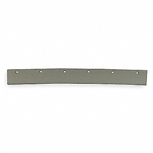 "24"" Gray Rubber, Tapered Edge Replacement Squeegee Blade, 1 EA"