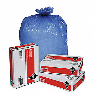 33 gal. Blue Hospital Isolation Bag, Flat Pack, 250 PK