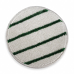 "17"" White/Green Carpet Bonnet with Strips"