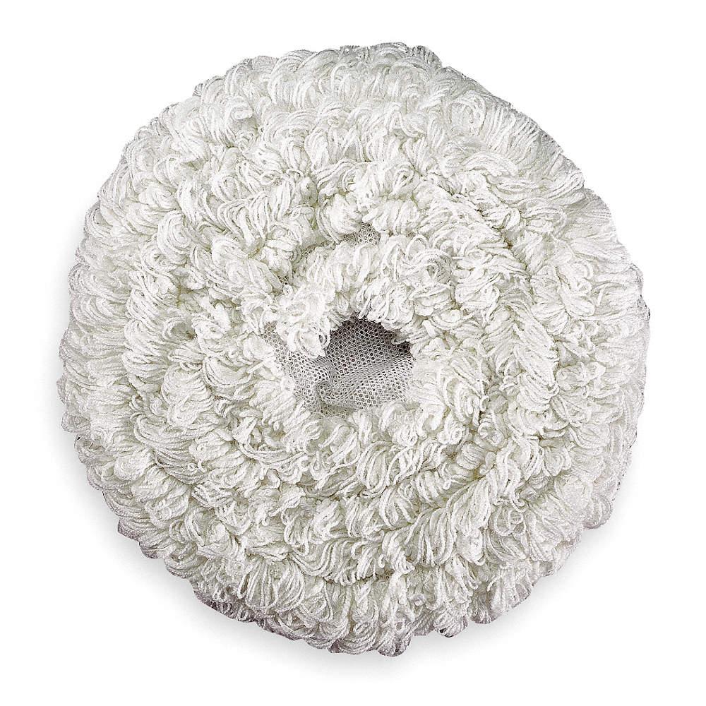 Carpet Bonnet,19 In,White RUBBERMAID FGP11900WH00 5PK