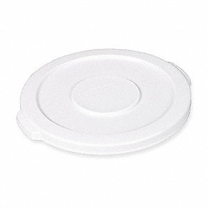 Trash Can Top,Flat,Snap-On Closure,White