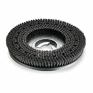 "18"" Round Cleaning, Scrubbing Rotary Brush for 20"" Machine Size, Black"