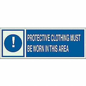 "Personal Protection, No Header, Polyester, 5"" x 14"", Adhesive Surface, Not Retroreflective"