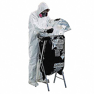 "Clear Asbestos Disposal Bag, 50 gal. Capacity, 33"" Width, 50"" Length"