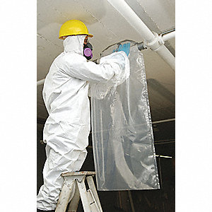 "6 mil Maintenance Asbestos Glovebag; Fits Pipe Size Up to 6"" dia."