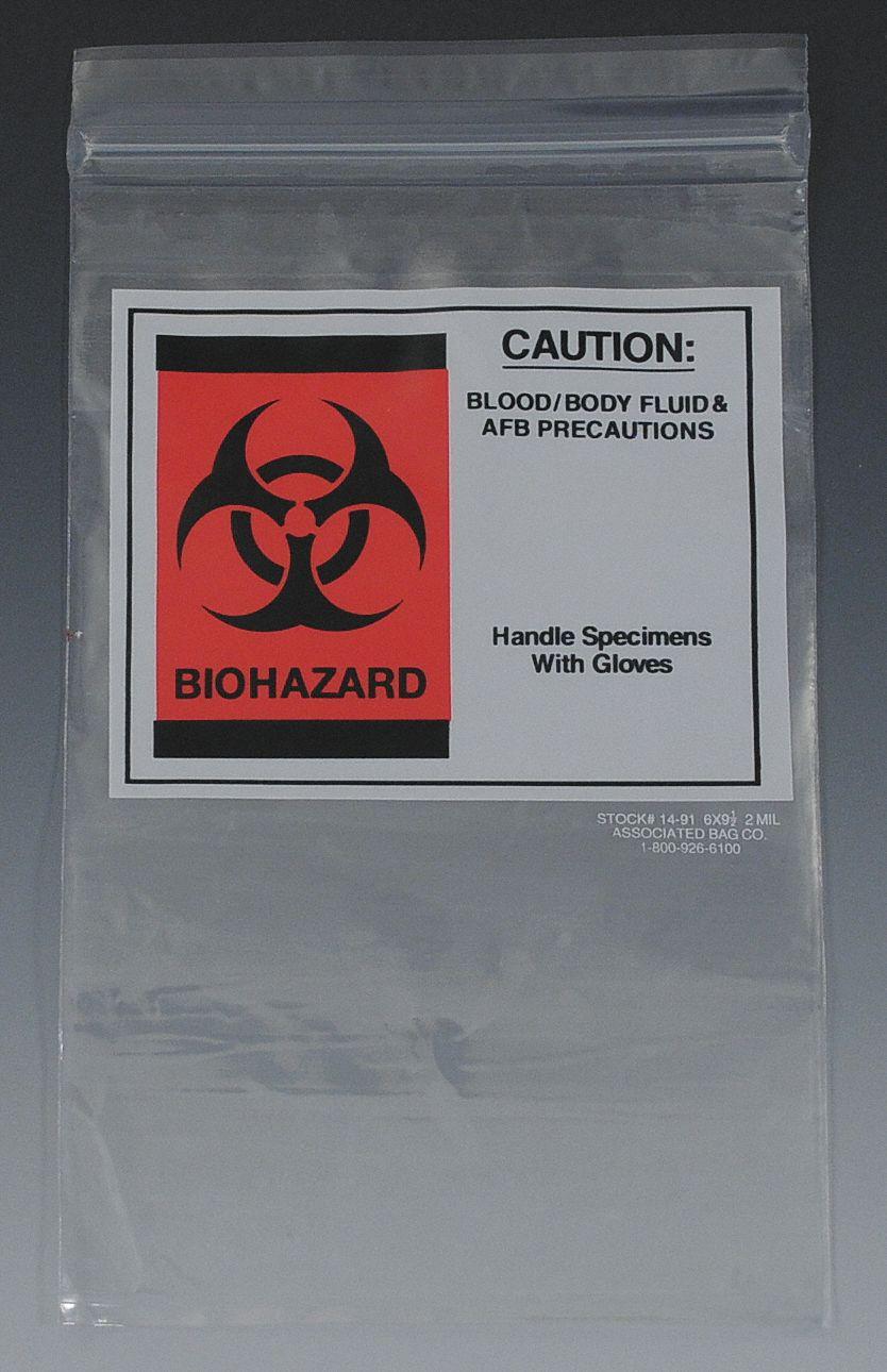 Associated Bag Company Clear Biohazard Pk 200 3uae9 14