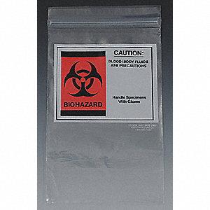 Clear Biohazard Bags 200 Pk