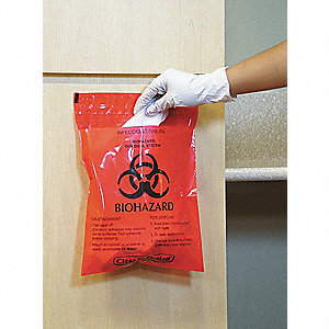 BIOHAZARD BAG,RED,1.4 QT.,PK100